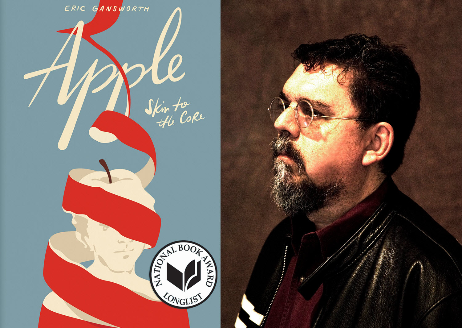 Image of Apple (Skin to the Core) cover by Eric Gansworth / Photo of Gansworth by dellas