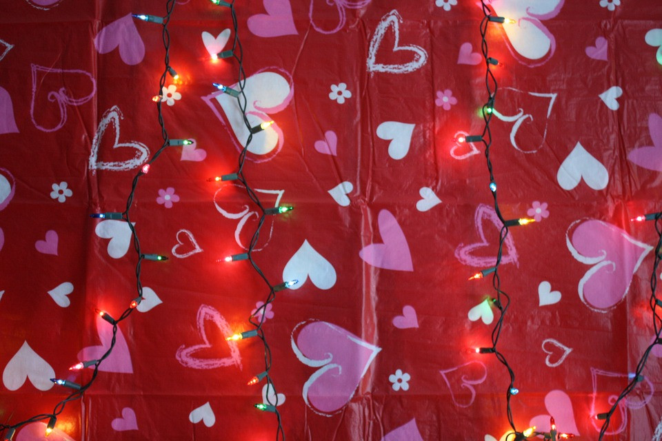Image of hearts and lights