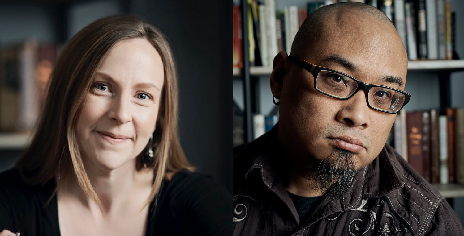 Courtesy images of writers Caitlin Horrocks and W. Todd Kaneko