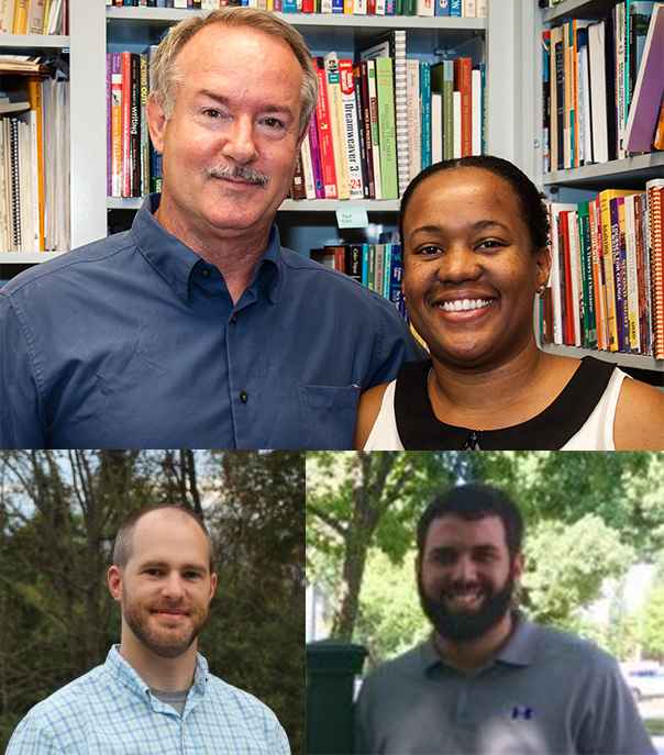 ALAN award-winners from ASU English. Top: James Blasingame and E. Sybil Durand. Bottom, from left: Jason Griffith and Anthony Celaya.