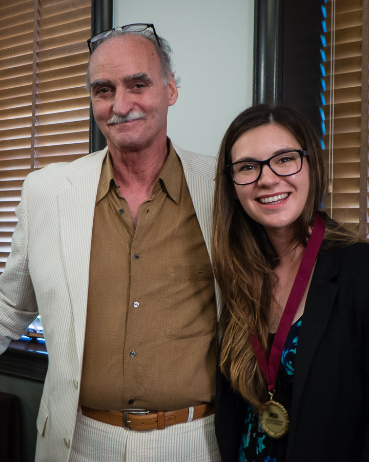 English Chair Mark Lussier and Deans Medalist Jessica Fletcher