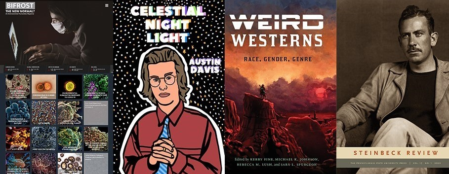 Cover images of books and journals by Joni Adamson, Austin Davis, Kerry Fine and Kathleen Hicks