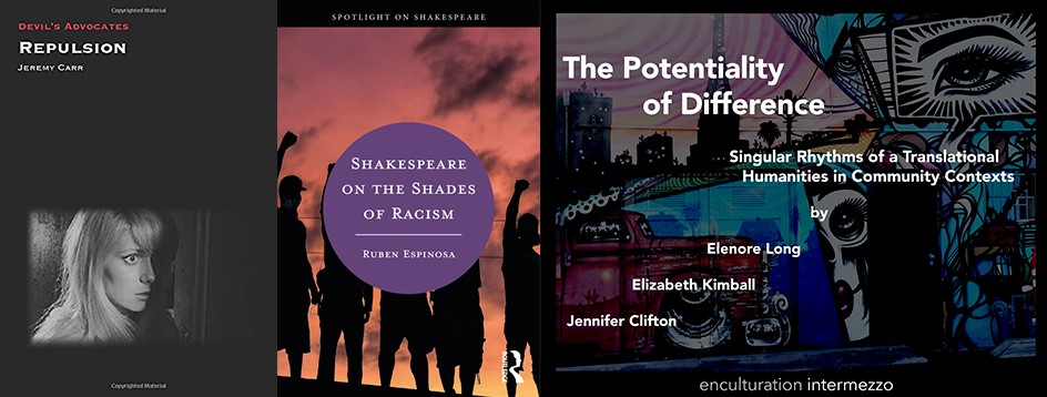 Covers of books by Jeremy Carr, Ruben Espinosa, Elenore Long and Jennifer Clifton