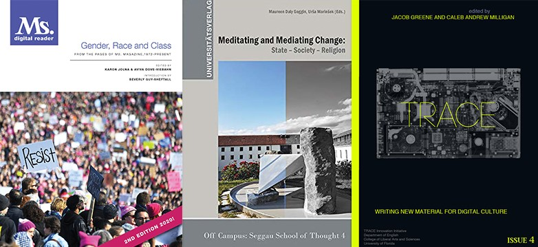 Covers of work co-edited by Dove-Viebahn, Goggin and Greene