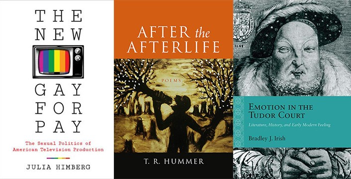 Images of published books by Julia Himberg, T.R. Hummer, and Bradley Irish.