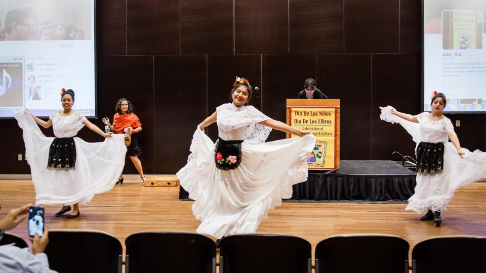 Dancers perform during 2016 El Dia / Photo by Bruce Matsunaga