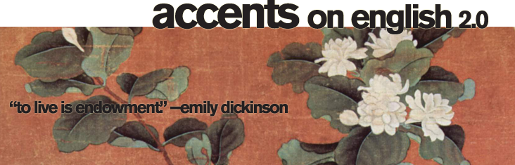 Header image for Accents on English spring 2013 TOC