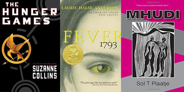 Covers of books that Margot Plunkett has read: The Hunger Games, Fever, 1793 and Mhundi