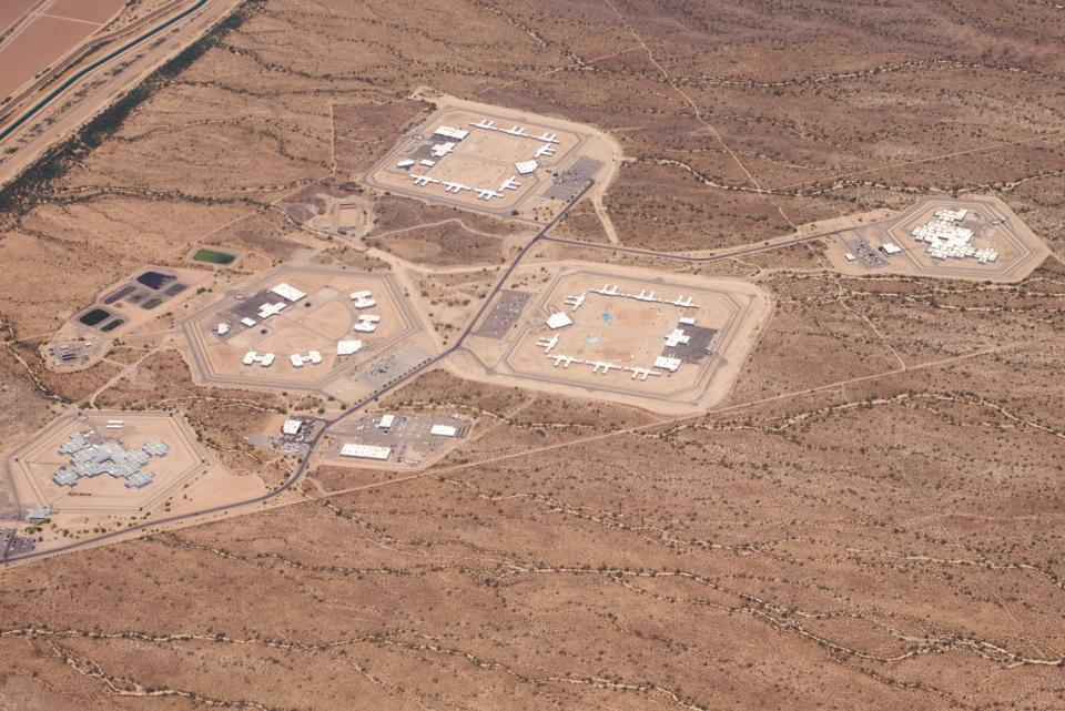 An aerial view of the Florence prison complex in Arizona / Photo domain photo by Alan Levine on Flickr