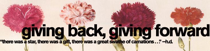 Header image for 'Giving Back, Giving Forward' Accents on English spring 2013 features