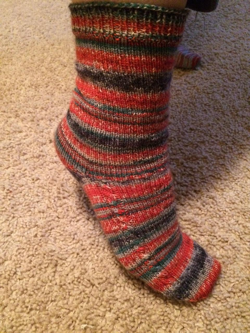 Red socks created by Elizabeth Hamm