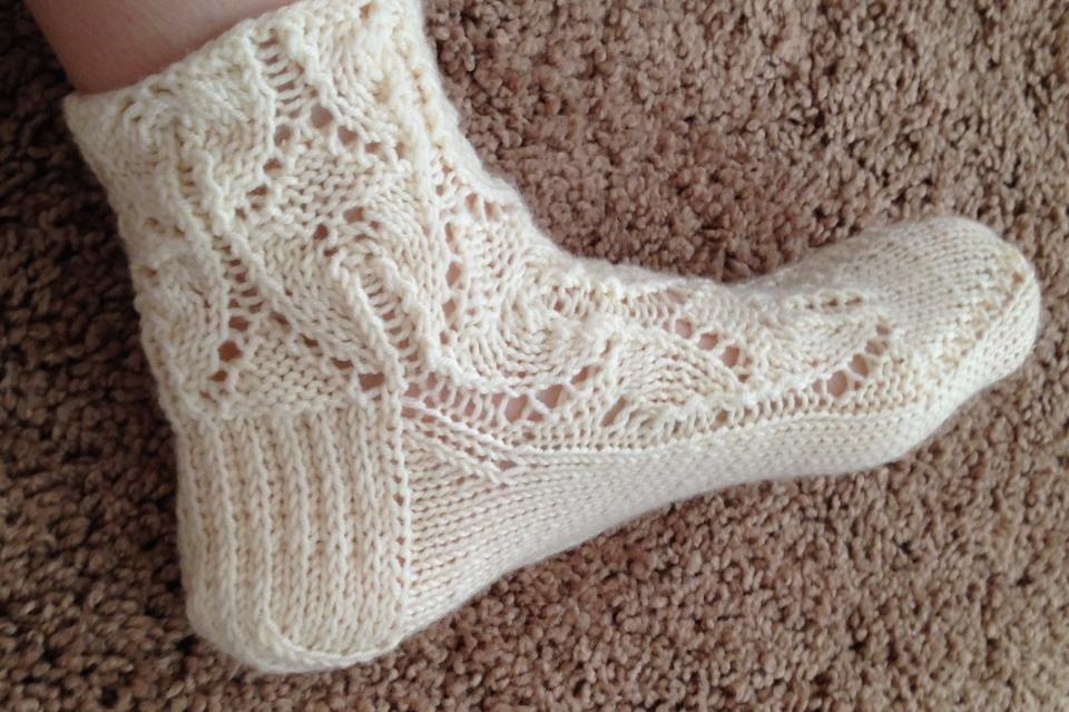 Tara Ison's knitted lace socks