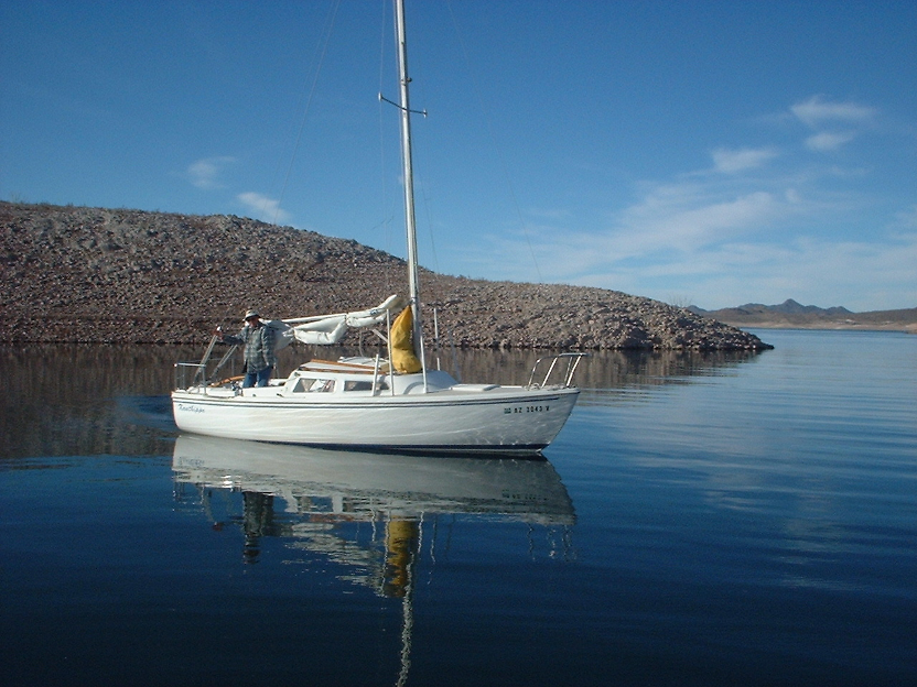 Jim Ney sailing on Lake Pleasant, Arizona. / Courtesy photo