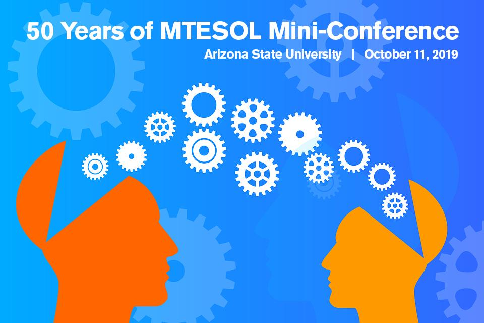 Graphic for ASU's 50 Years of MTESOL Conference in 2019