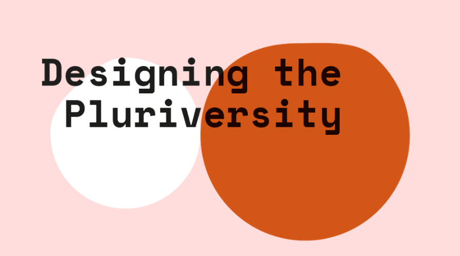 Web graphic for the research project Designing the Pluriversity