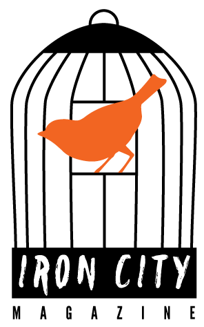 Iron City Magazine masthead. Artwork by Natalie Volin.