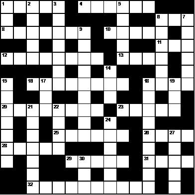 """Image of """"About Face"""" crossword puzzle by Alberto Rios."""