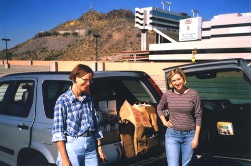 Elly van Gelderen and Kristen LaRue deliver books, 2005