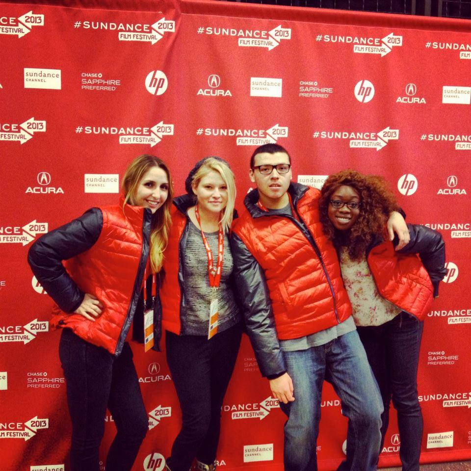 Student interns at the Sundance Festival
