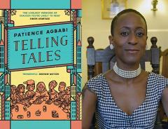 Telling Tales book cover and author Patience Agbabi. / Author photo by Lyndon Douglas courtesy of Renaissance One.