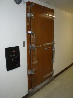 Image of mystery door in ASU's Life Sciences Building / Photo by Larry Ellis