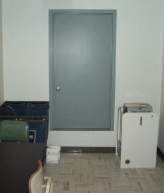 Image of mystery door in ASU's Language and Literature Building / Photo by Larry Ellis